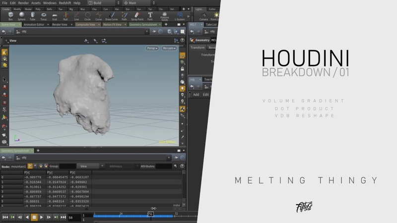 HOUDINI BREAKDOWN 01 - Learning how to create Ice Growth/Icicles/Stalactite - Tutorial