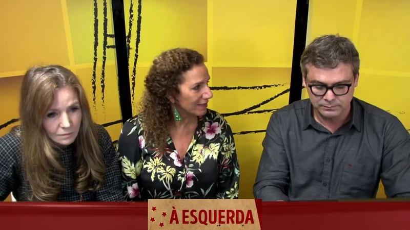 À ESQUERDA - Lindbergh Farias, Vanessa Grazziotin e Jandira Feghali