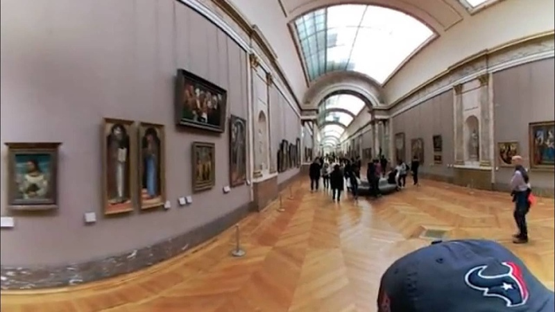 Louvre Museum VR 360 View Denon Wing Paris France LG 360 Camera
