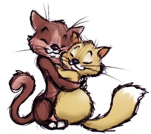 ведь картинки кошка целует кота мульт этого поэта
