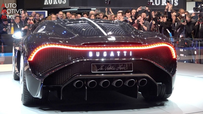 WORLD PREMIERE € 16 7 MILLION BUGATTI LA VOITURE NOIRE GENEVA MOTORSHOW 2019