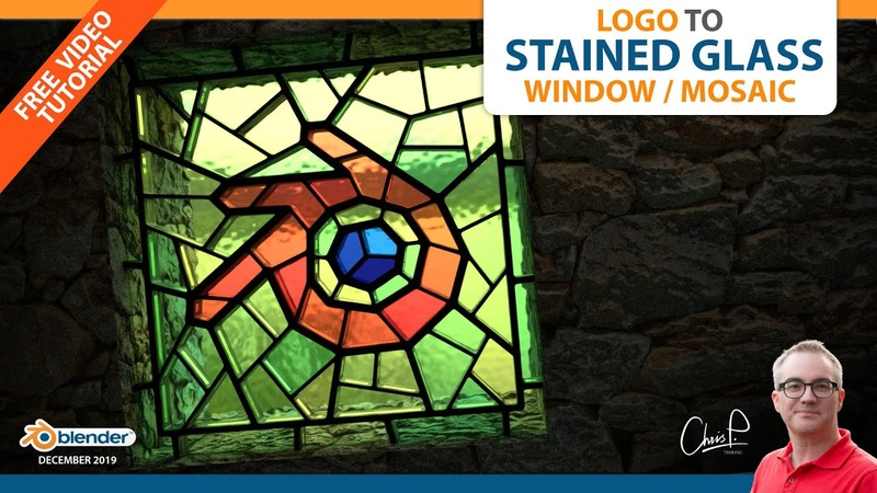 Logo to Stained Glass Window/Mosaic (Blender 3D Tutorial)