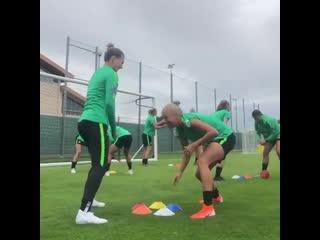Футбольные упражнения на скорость реакции