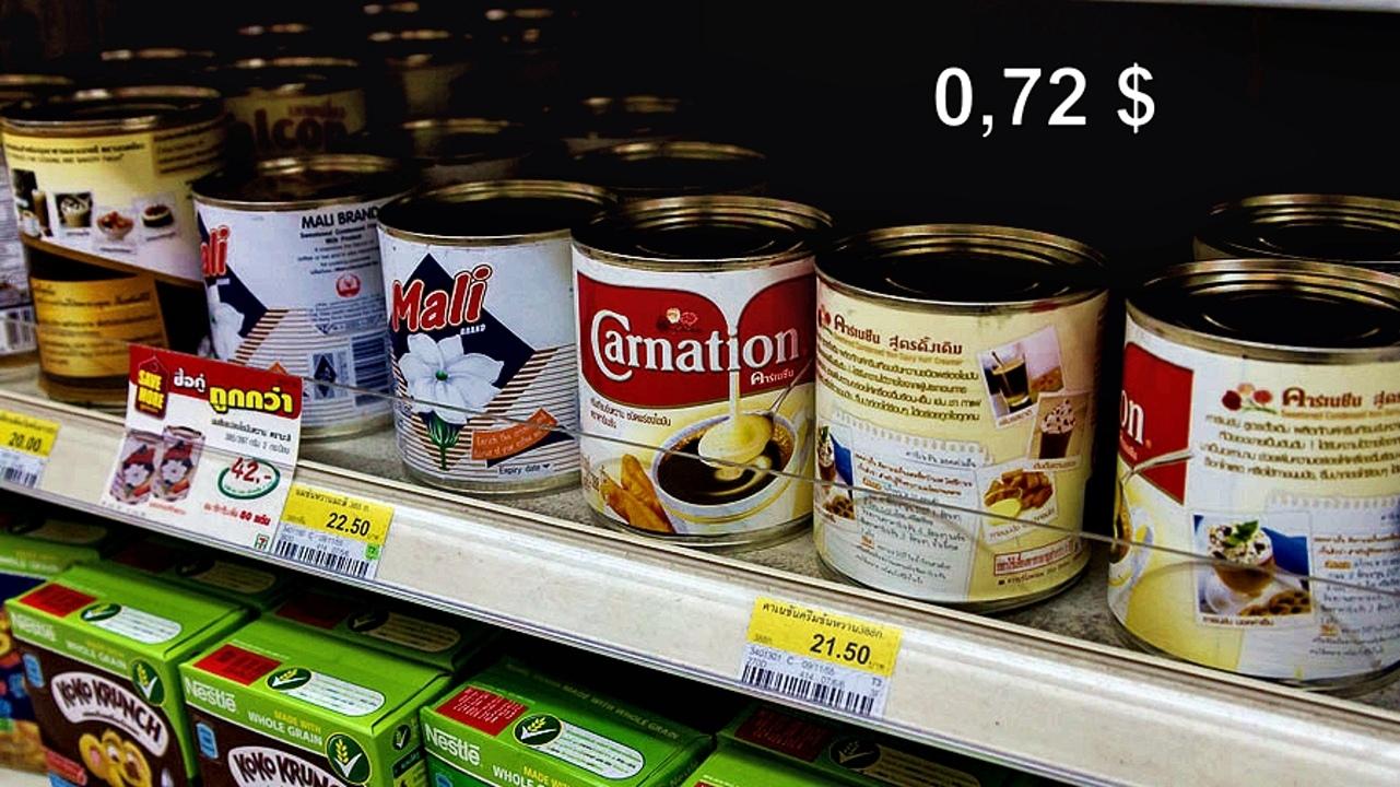 Цены на продукты и еду в Таиланде.  KLqvmpccQd4