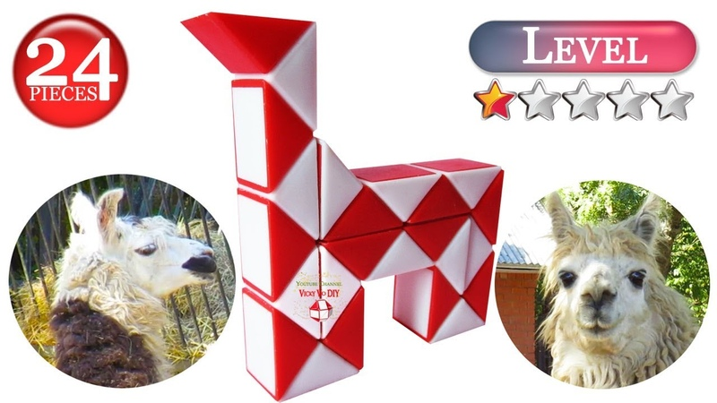 Rubik's snake Lama Alpaca Llama Horse 24 piece Snake puzzle shapes Animals Magic Rubik snake