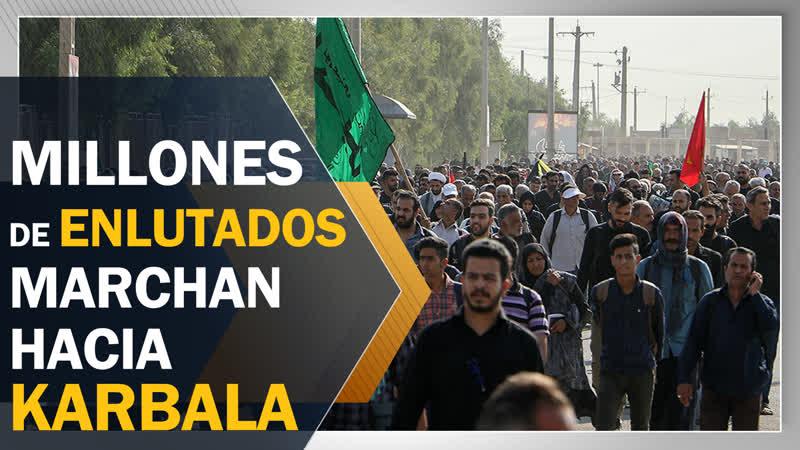 Millones de enlutados marchan hacia Karbala para conmemorar Arbaín