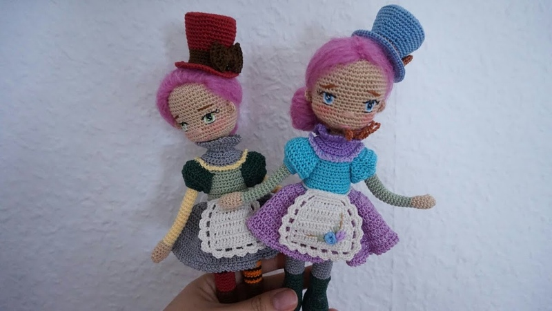 How to crochet small size doll dresses miniature doll clothes