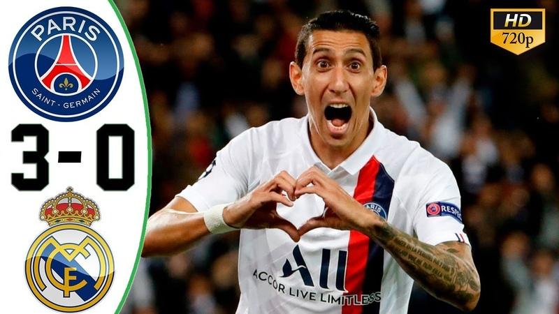 PSG vs Real Madrid 3-0 All Goals Highlights 18/09/2019 HD