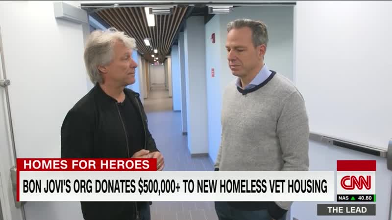 Rockstar Jon Bon Jovi's foundation donates more than half a million dollars to homeless veterans facility