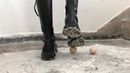 Boots loves eggs crush eggs with Dr. Martens boots