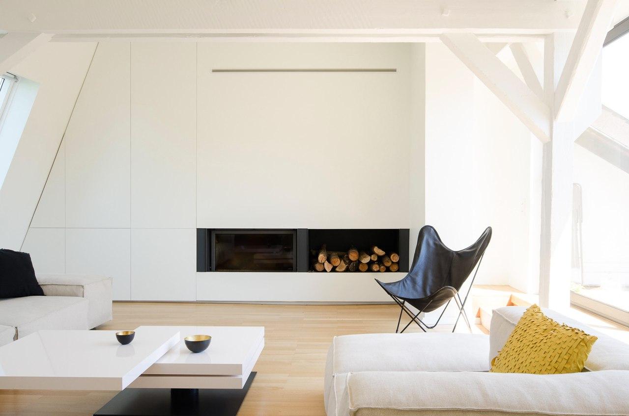Светлая и просторная квартира на мансардном этаже