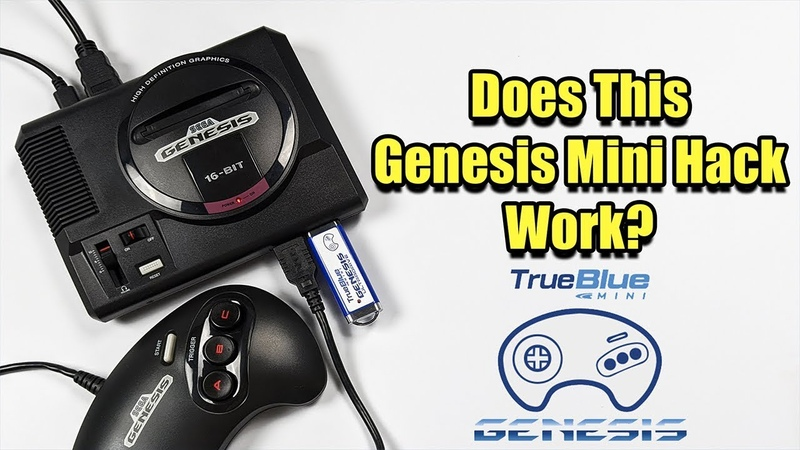 Does This Genesis Mini Hack Work True Blue Mini Ultradrive Pack for Genesis Mini Mega Drive Mini