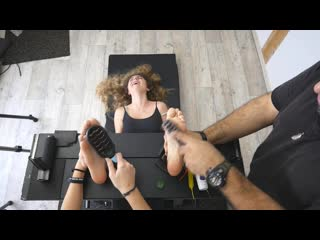 Frenchtickling lisabeth introduced us her best friends ticklish soles
