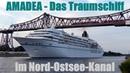 ZDF Traumschiff AMADEA im Nord-Ostsee-Kanal