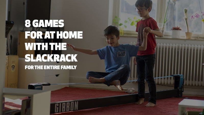 8 games for at home with the slackrack from GIBBON