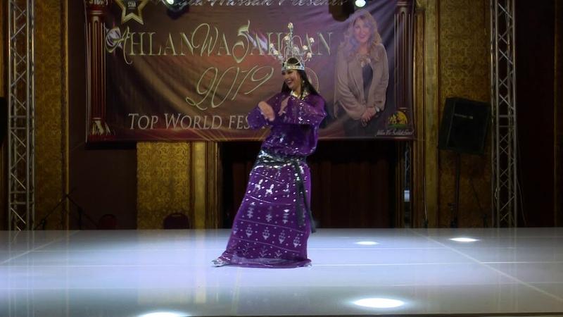 Valeriia Bakurova Awalim dance at the Ahlan Wa Sahlan Festival 2019
