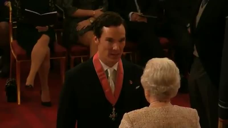 Benedict Cumberbatch honoured with CBE by Queen