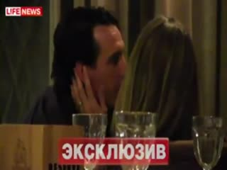 This is unai emery, hours after his team lost in russia during his short spell there.
