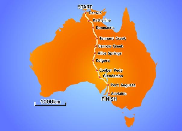 idgestone World Solar Challenge - самые известные в мире гонки автомобилей на солнечной энергии Шоссейная дистанция протяженностью 3022 км (1878 миль) проходит по