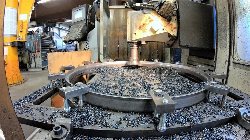 Machining Over Sized Steel Rings with CNC-Milling Machine