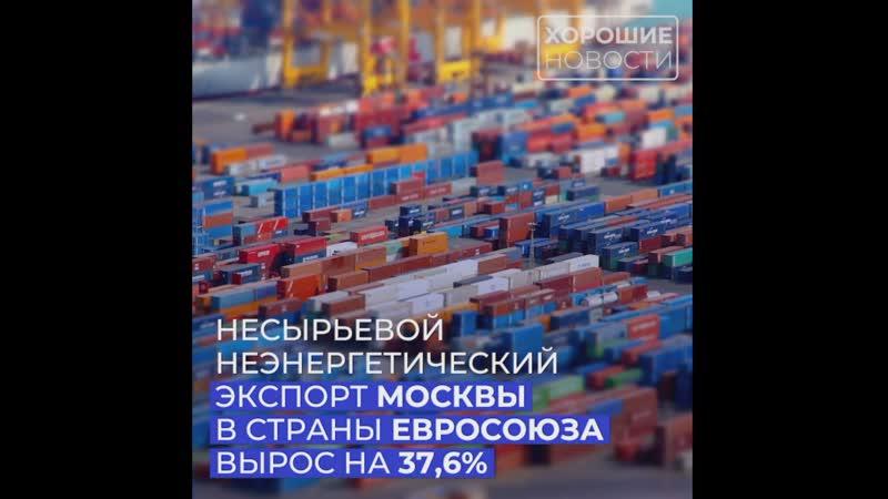 Несырьевой неэнергетический экспорт Москвы в страны Евросоюза вырос на 37 6%