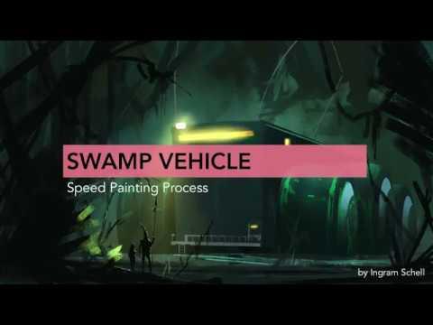 Swamp Vehicle Speed Painting