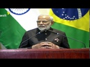 PM Modi addresses Leaders Dialogue with BRICS Business Council and NDB in Brazil PMO