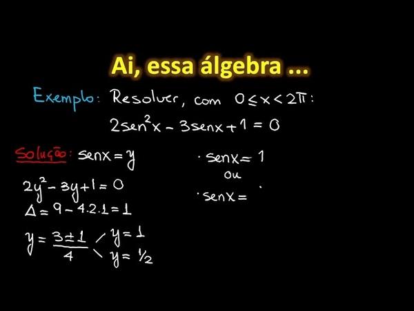 Exemplos de Equações Trigonométricas Matemática HORA DO ENEM