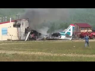 Пассажирский самолет АН-24 потерпел крушение при посадке в Бурятии - есть жертвы (видео)