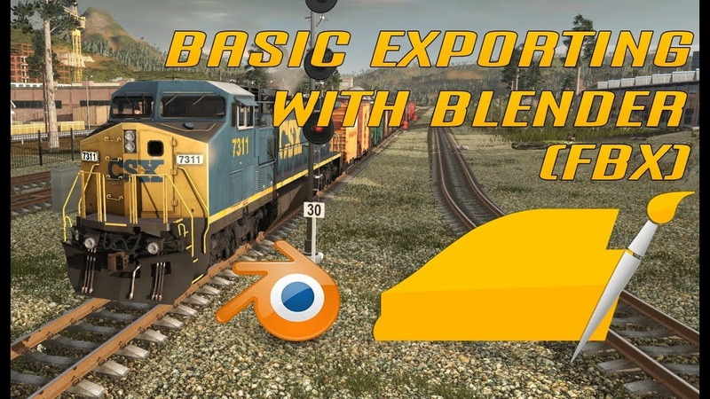 The Joyz of Trainz Exporting a Cube with FBX and PBR Blender