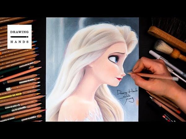 Drawing Frozen2_Elsa(Hair loose elsa) [Drawing Hands]
