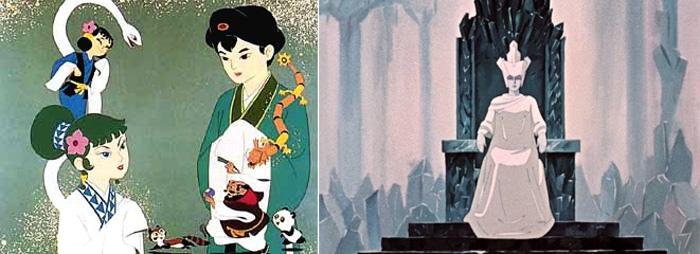 Два мультфильма, поразившие воображение юного Хаяо Миядзаки - «Легенда о белой змее» и «Снежная королева»