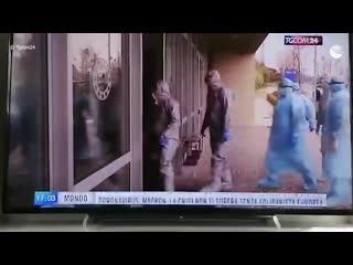Команда суперэкспертов: итальянское ТВ показало новые кадры работы российских военных в Бергамо