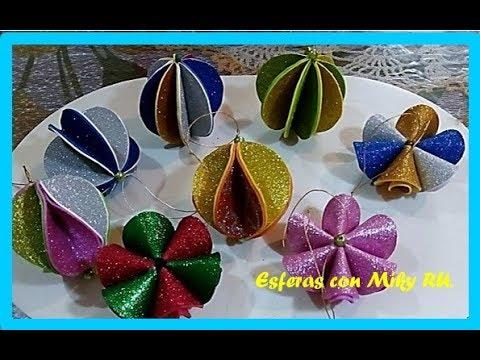 Como hacer hermosas esferas de fomi - Miky ru