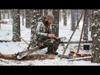 Поход в лес. Дикая кухня. Мой новый топор Hultafors. Малый якутский нож.