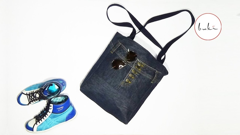 Buki Jeans Bag Making DIY Jeans Tutorial Old Jeans Recycle Idea