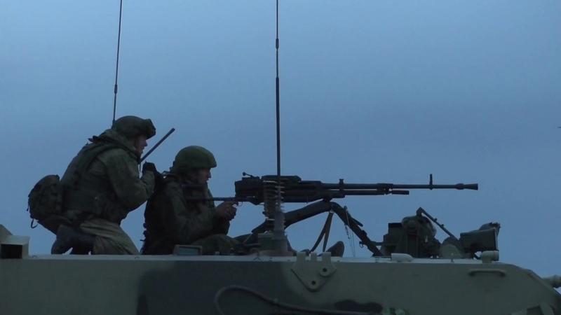 Учение с десантниками 31-й одшбр в Ульяновской области