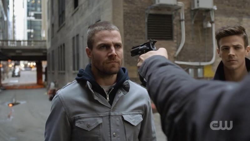 Oliver,Barry and Kara Get Arrested/Gotham Jail Scene || Elseworlds Crossover Arrow 7x09 1080p60fps