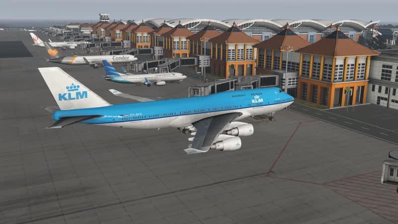 KLM B747-400 - Bali (WADD) | X-Plane 11