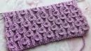 Эффектный узор спицами Барашки Завитушки Beautiful knitting pattern