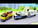Полицейская машина - Лего мультфильм для детей - lego city police cars toy vehicle for kids.