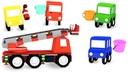 4 машинки и пожарная машина - Мультики для детей про машинки - Новые серии 2020