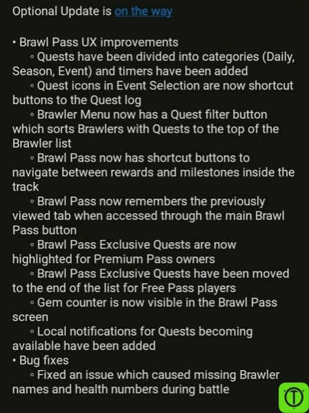 Вышло опциональное обновление! Улучшения интерфейса Brawl Pass: -