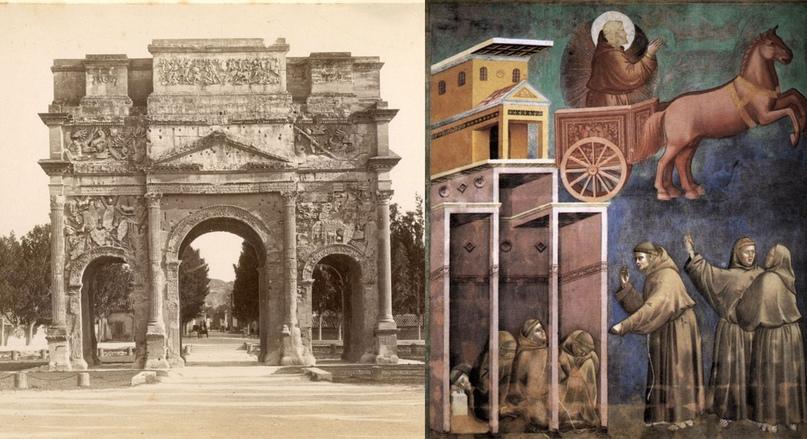 Триумфальная арка Оранжа 1880г.