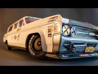Super scale active suspension, arduino powered, 3D printed, RC drift, Oldsmobile Dynamic 88 LONG