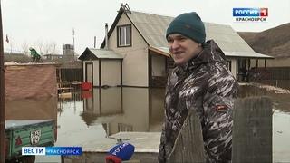 В Красноярске жители частного сектора страдают от весеннего паводка