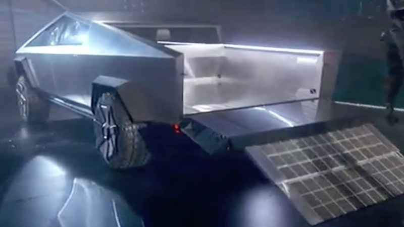 Tesla Electric Pickup Truck its Interior and the ATV