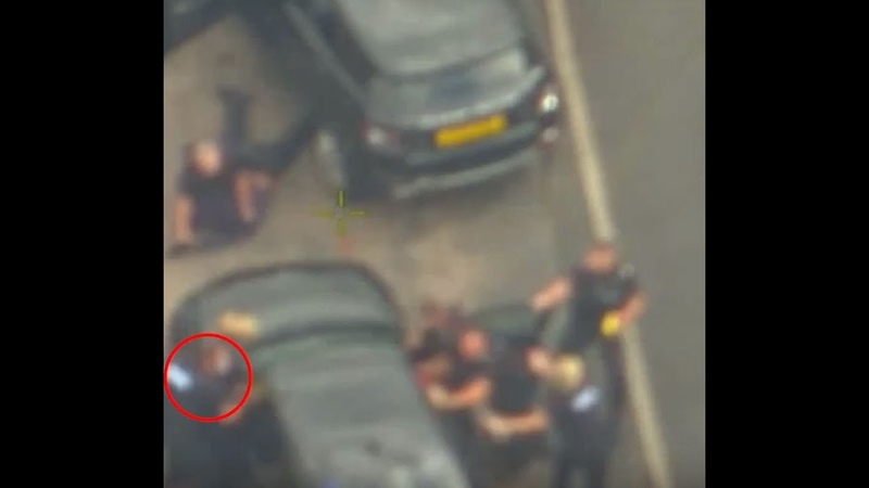 Video shows moment PC Gaz Phillips is knocked down by hijacked police car