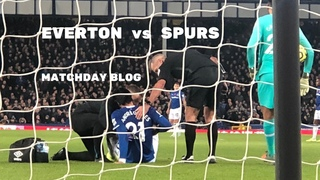 EVERTON v SPURS. Fan blog from the match at Goodison Park
