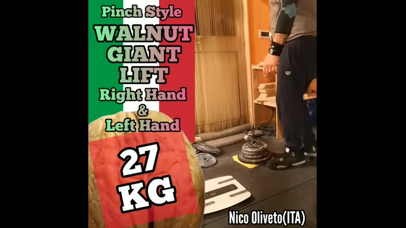 Nico Oliveto ITA Walnut Giant LIFT PS 27 kg LH RH